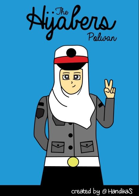gambar kartun hijab hijaber hijaber polwan islam kartun islam kartun
